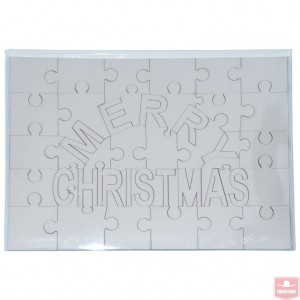 "Puzzle lemn (MDF) ""Merry Christmas"""